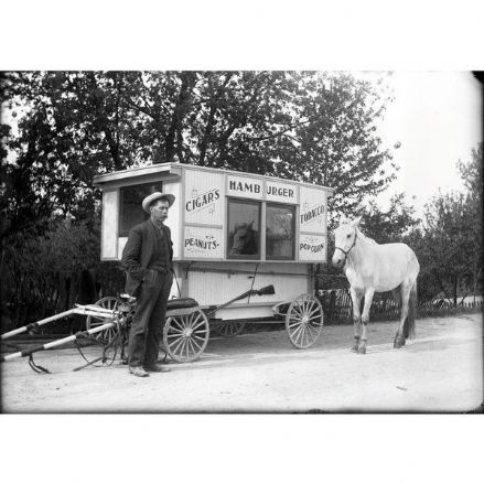 CSP Greeting Cards '1880's Burger Van'